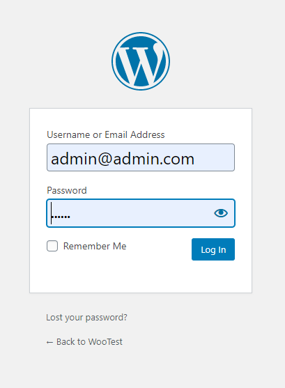 Login into Wordpress Admin Panel
